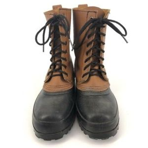J CREW Boots Men's Duck Leather Rubber Lace Up